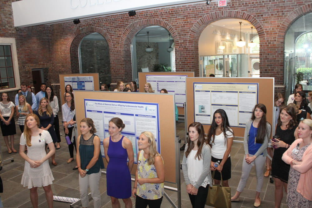 College of health Professions students present their posters.