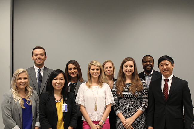 Master in Health Administration students attend a career panel in 2016