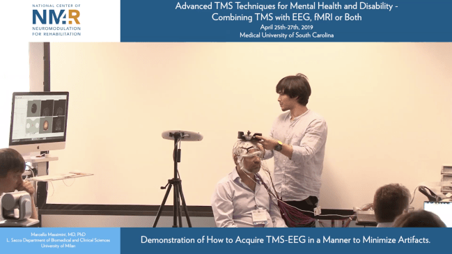 Demo of how to acquire TMS-EEG in a manner to minimize artifacts